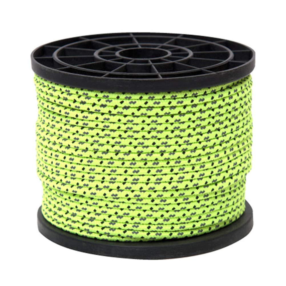 LIOOBO Tent Rope Paracord Outdoor Reflective Bracelet Rope Bundles Lanyard Camping Survival Equipment Kit Climbing Hiking Emergency Rope 50M/4mm