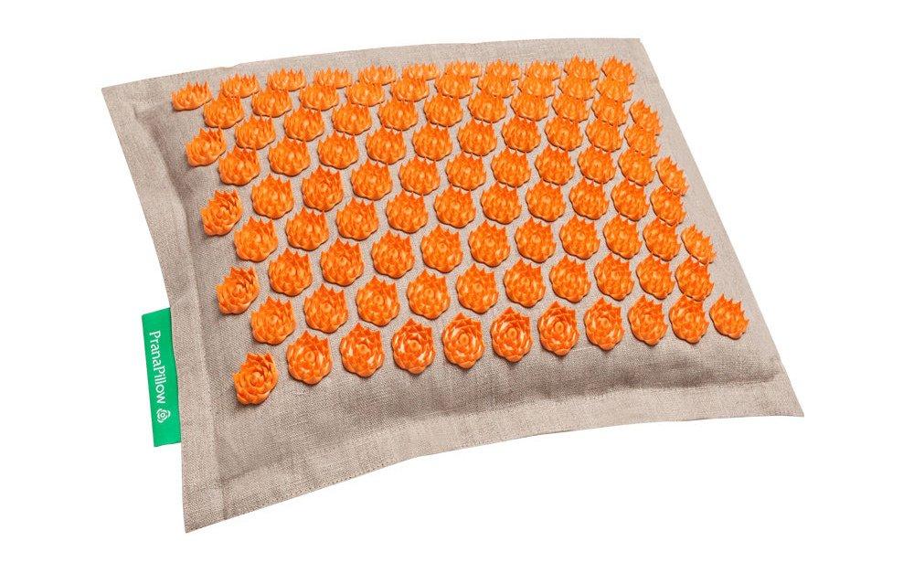 PranaPillow Massage / Acupressure Pillow (Natural Orange)