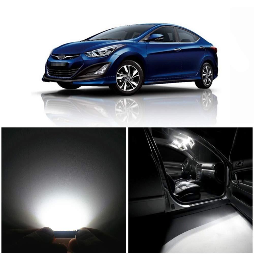 2014 Hyundai Elantra Warranty >> Amazon Com Wljh 9pcs White Led Canbus Error Free Interior