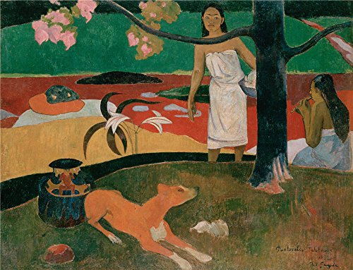 canvas-prints-of-oil-painting-gauguin-paul-1892-pastorales-tahitiennes-10-x-13-inch-25-x-33-cm-high-
