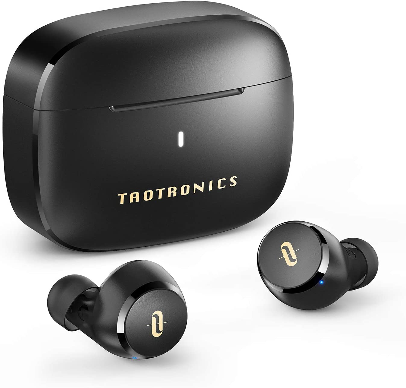 Wireless Earbuds, TaoTronics Bluetooth 5.0 Headphones Soundliberty 97 True Wireless Ear Buds in-Ear with mic CVC 8.0 Noise Cancelling AptX Stereo Bass Touch Control IPX8 Waterproof 9H Playtime