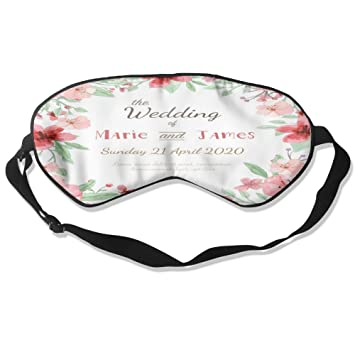 Amazon Com Flowers Wedding Invitation Pure Silk Sleep Mask Reusable