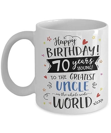 Amazon 70th Birthday Gift For Uncle Mug