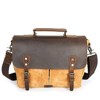 85dffd1480c0 Amazon.com: LBYMYB Men's Shoulder Bag Canvas Bag Retro Men's Bag ...