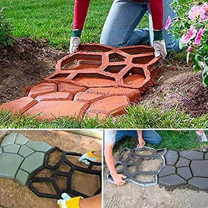 Patio Walk Maker Stepping Stone Concrete Paver Stone Garden Paving Molds 30*30cm
