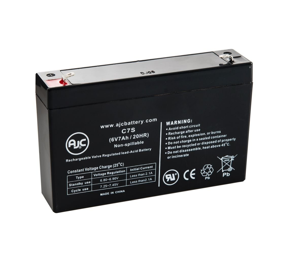 Enduring 3FM7, 3-FM-7 6V 7Ah UPS Battery - This is an AJC Brand Replacement
