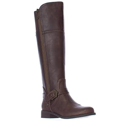G by GUESS Womens Hailee Leather Closed Toe Knee High Riding Boots Brown Size 5.0 | Boots