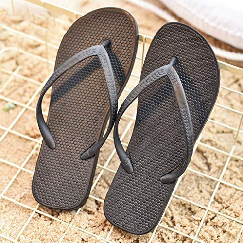 Pantuflas Hombres Negras Huyp Verano De Para Zapatillas Deporte Y 43 tamaño Sandalias xzwYA
