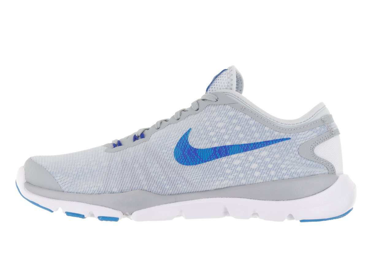 NIKE Women's Flex Supreme TR 4 Cross Trainer B019HDPJ7O 9.5 B(M) US|Pure Platinum/Blue Glow/Wolf Grey