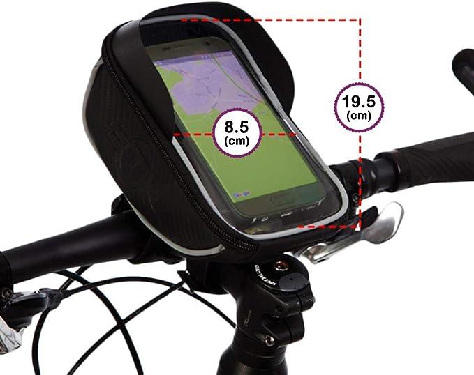 Onlyonehere Fahrrad Rahmentasche Wasserdicht Fahrradtasche Lenkertasche Handyhalterung Handyhalter Handytasche Oberrohrtasche Mit Kopfh/örerloch Reflektierend F/ür Smartphone Unter 7 Zoll