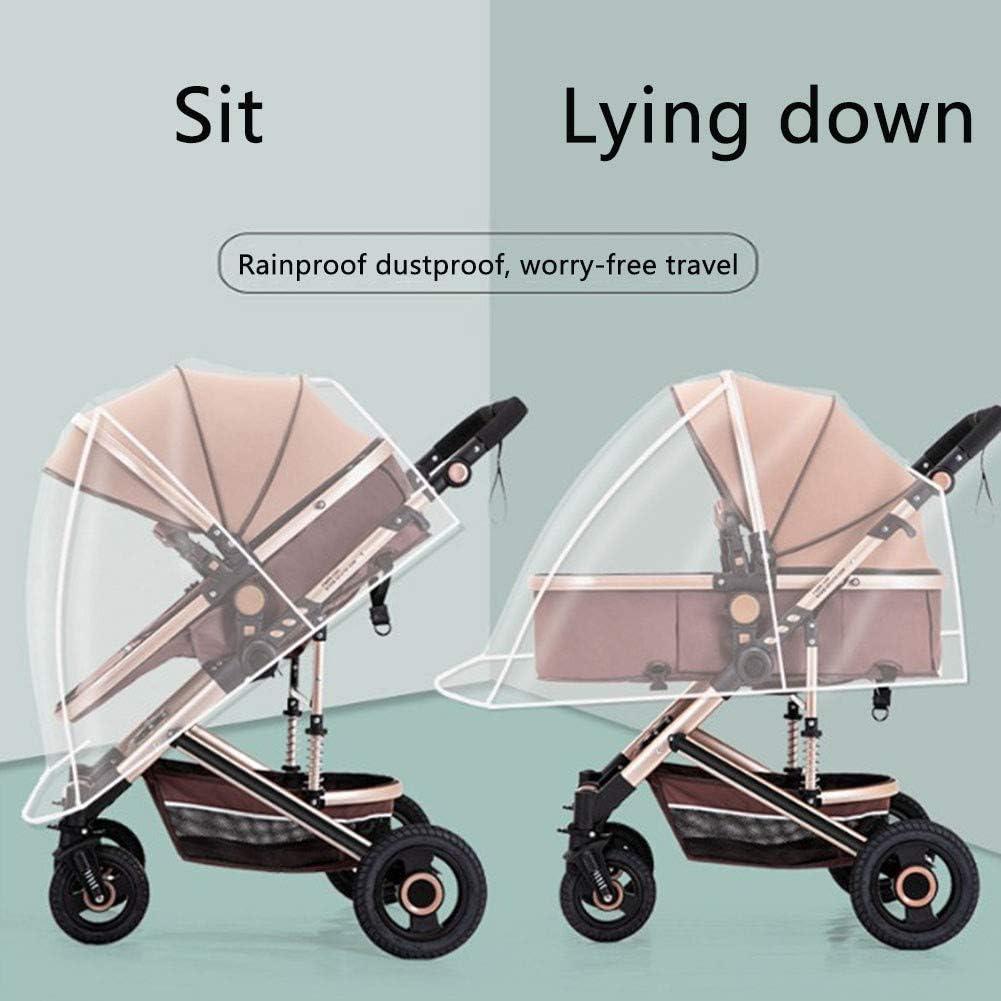 CTEGOOD Protector de Lluvia Universal para Silla de Paseo Cubierta Lluvia Cochecito Adecuado para el 99/% de los Modelos para beb/és del Mercado