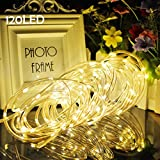 Lalapao Christmas Rope Lights 120 LED Battery Operated Fairy String Lights Waterproof Outdoor lights decorations Timer Decor for Indoor Garden Patio Lawn Holiday Bedroom Wedding Party (Warm White)