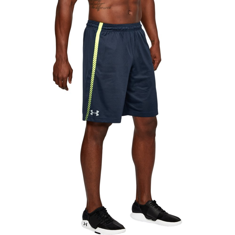 Under Armour Men's Tech Mesh Graphic Shorts, Academy (408)/Steel, Small