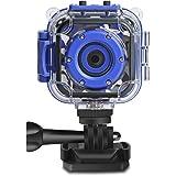 PROGRACE Children Kids Camera Waterproof Digital Video HD Action Camera 1080P Sports Camera Camcorder DV for Boys Birthday Le