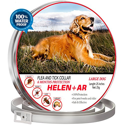 Flea and Tick Collar For Dogs ! Flea and Tick Prevention for Dogs ! One size fits All ! Waterproof ! Dog Flea and Tick Control 6 months protection ! FLEA COLLAR FOR DOGS