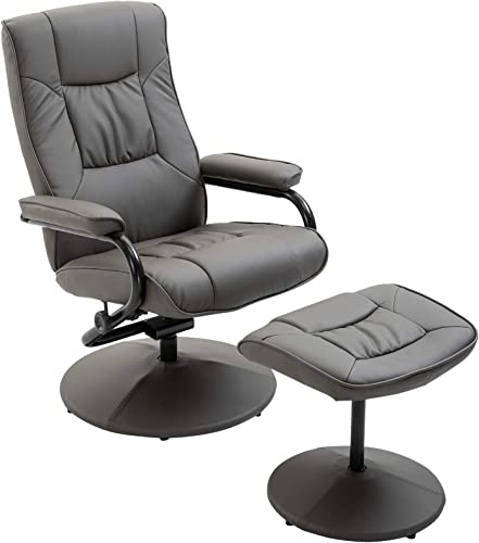 HOMCOM Adjustable Leisure Recliner Chair and Ottoman Set