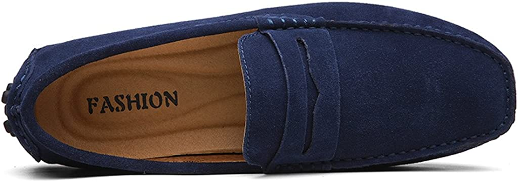 Eagsouni/® Mocassins en Daim Hommes Penny Loafers Casual Bateau Chaussures de Ville Flats