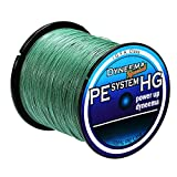 Isafish Braided Fishing Line 500M/547yards 20LB-80LB Test 4 Stands Super Strong PE Fishing Line 0.28mm Diameter Dark green For Sale