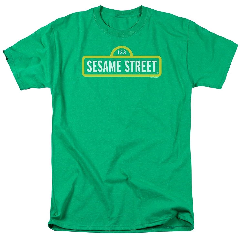 Sesame Street Classic Children's TV Show Original Logo Green Adult T-Shirt Tee