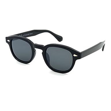 a24c1b462c Sunglasses KISS - style MOSCOT mod. DEPP ICONIC - Johnny Depp man woman  VINTAGE unisex - BLACK  Amazon.co.uk  Clothing