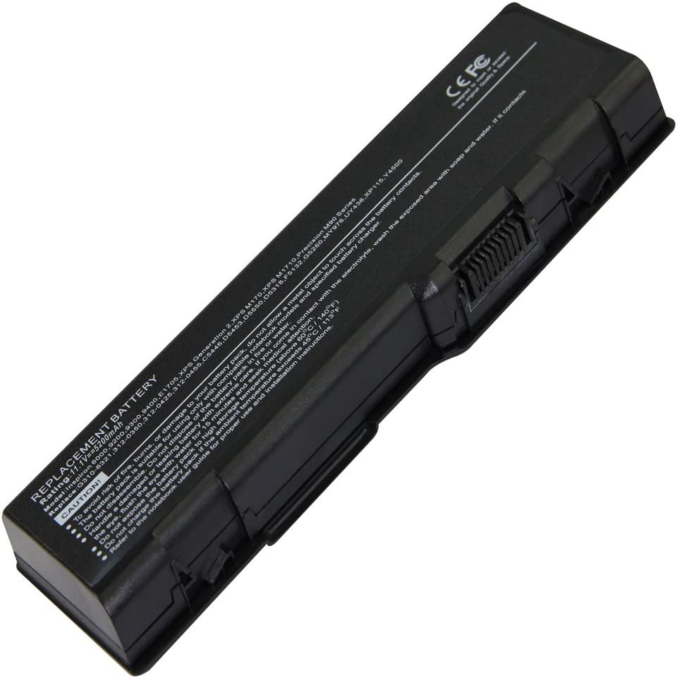 4800mAh,Hi-quality Battery for DELL Inspiron 6000 9200 9300 9400 XPS Gen 2 E1705 Compatible Part Numbers 310-6321 312-0340 312-0348 D5318 F5635 G5260
