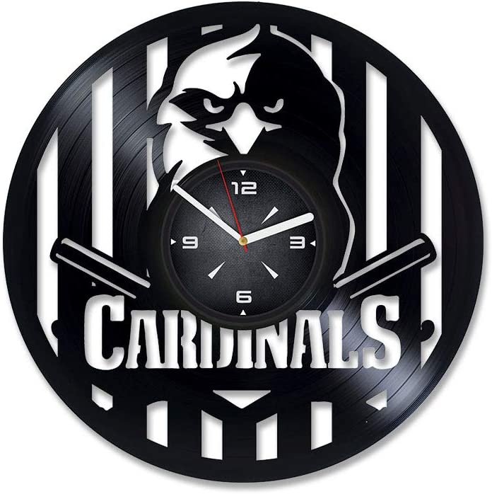 Cardinals Baseball Vinyl Record Wall Clock. Decor for Bedroom, Living Room, Kids Room. Gift for Him or Her. Christmas, Birthday, Holiday, Housewarming Present.