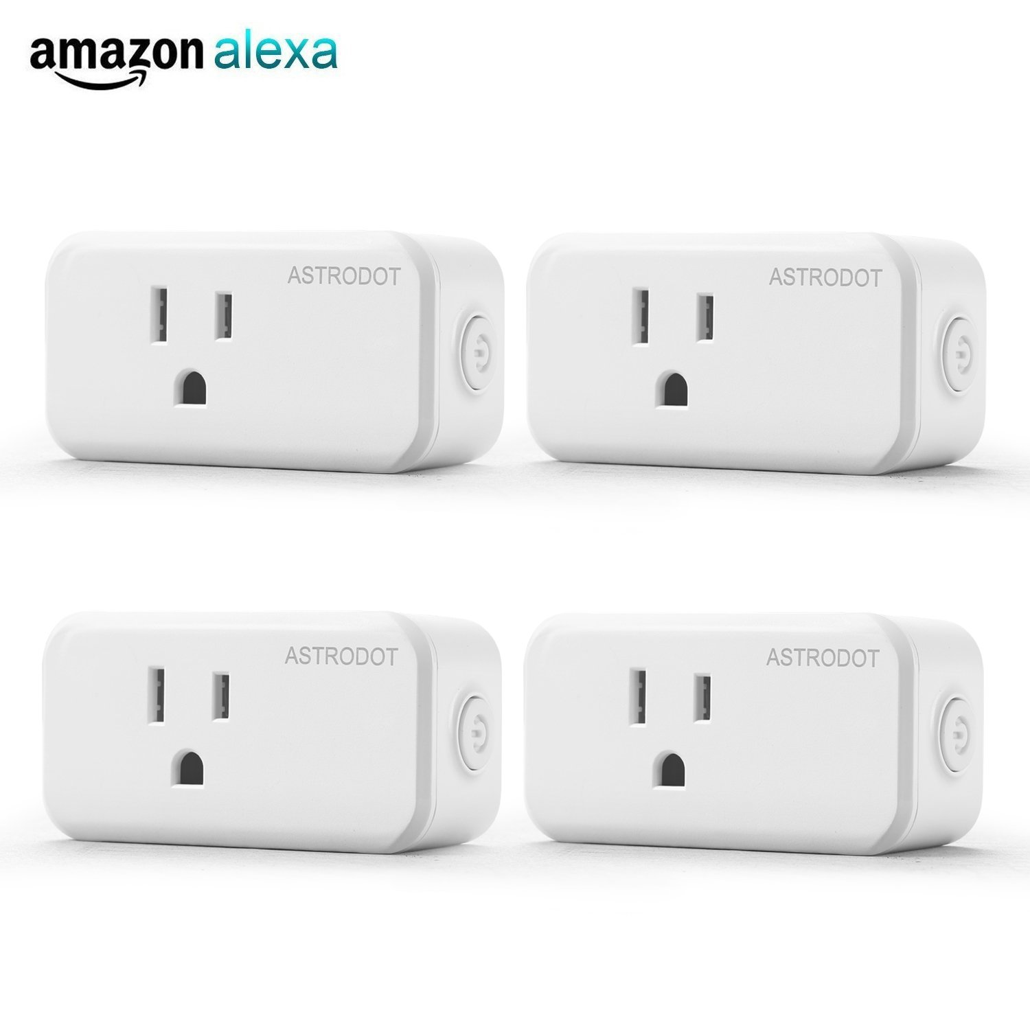 ASTRODOT WiFi Smart Plug Mini, Smart Home Power Control Socket, Remote Control Your Household Equipment from Everywhere, No Hub Required, Works with Amazon Alexa, Echo Dot & Google Home (4)