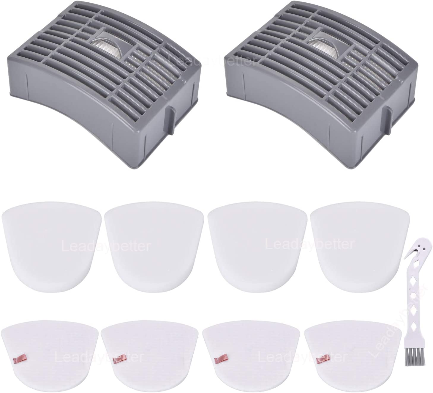 2 HEPA + 4 Foam & Felt Filters for Shark Powered Lift-Away DLX NV581,581Q, Compare to Part # XFFT580 Replacement Filter