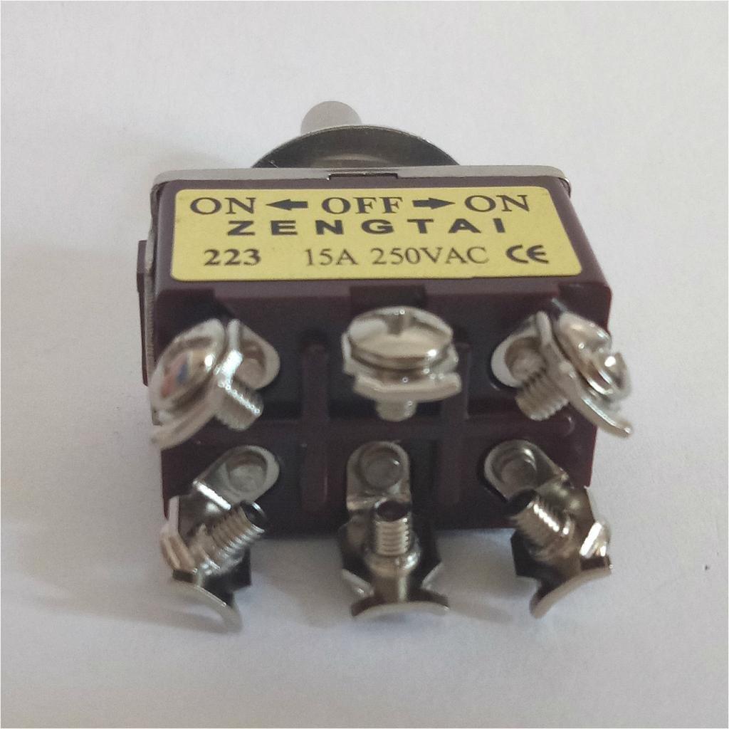 Homyl Interrupteur /à Bascule Toggle Switch DPDT on-Off-on 6 Broches Rocker DPDT on//Off//on 3 Position