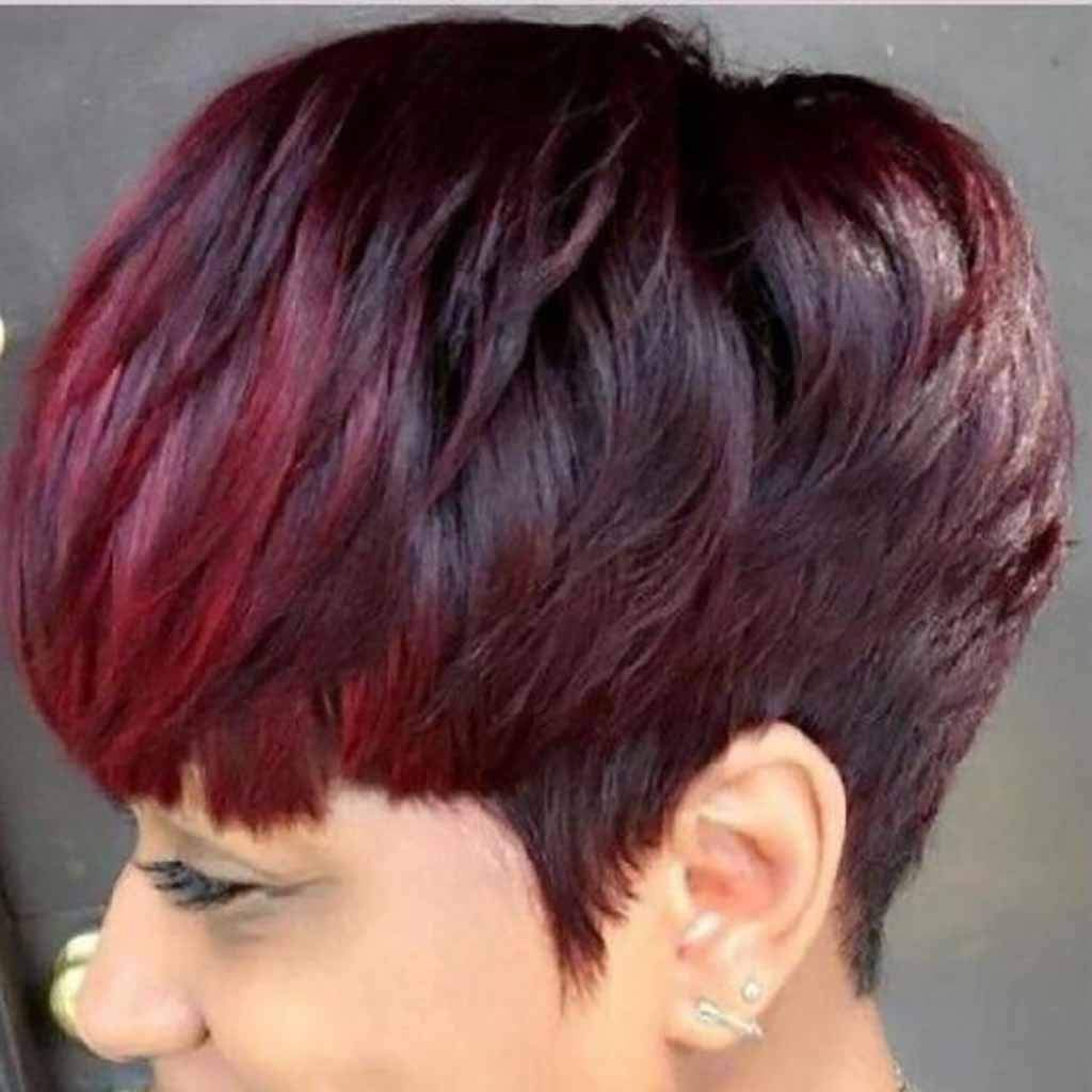 Goddesslili Short Wig, Black Women Natural Party Cosplay Red Short Wave Sexy Curly Wavy Synthetic Wigs Daily Wear Party Costume, Back to School Supplies