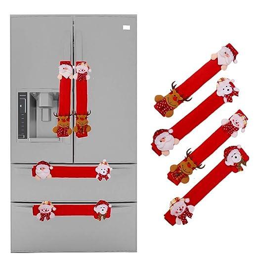 Cubierta De Manija De Puerta De Refrigerador De Navidad, Juego De ...