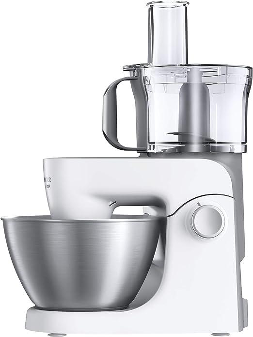 Kenwood KHH326 - Robot de cocina multifunción 1000 W, 4.3 L, mezcla, bate, amasa, batidora de vaso 1.5 L, procesador alimentos 1.4 L, 3 discos, exprimidor, picadora, licuadora, plata/blanco: Amazon.es: Hogar