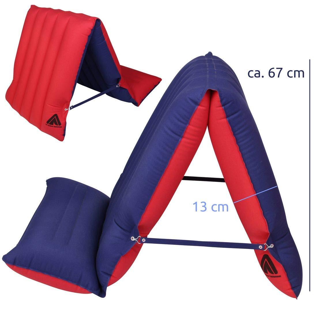 10T Outdoor Equipment Unisex Adultos Ruby Sit /& Lie 1 Hombre Cama de Aire colch/ón de algod/ón 195 x 70 cm Asiento Tumbona colch/ón de Aire Camping Rojo//Azul 1 Persona