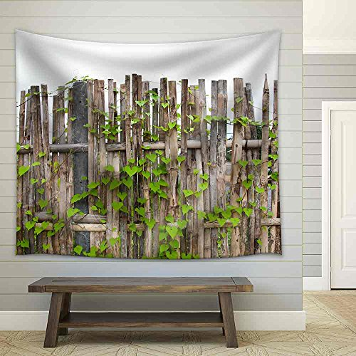 Vine on Bamboo Wall Fabric Wall Tapestry