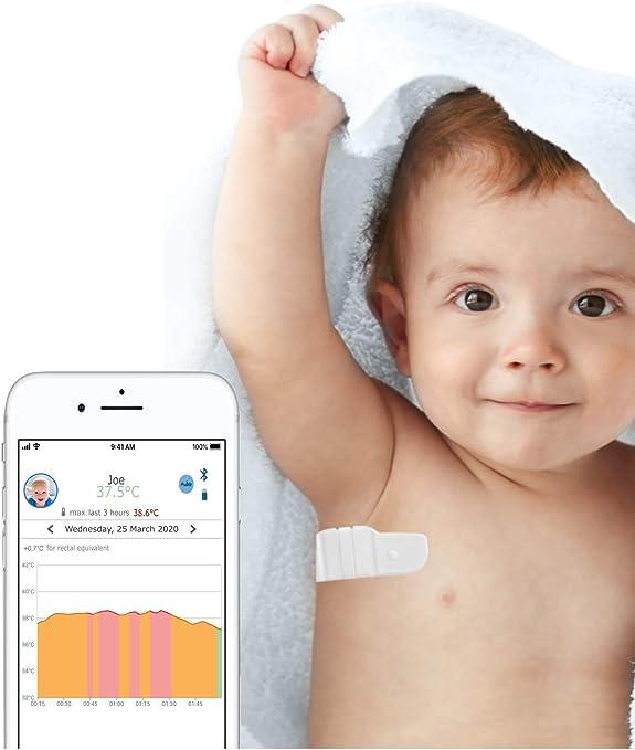 TUCKY termometro parche conectado - Dispositivo Médico - Monitoreo continuo y remoto de la temperatura: Amazon.es: Bebé
