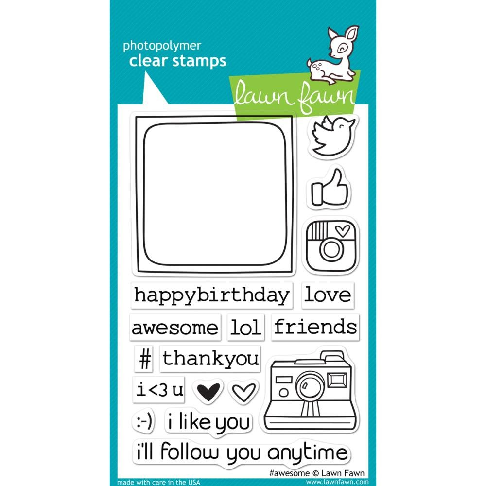 Lawn Fawn awesome Clear Stamps LF652