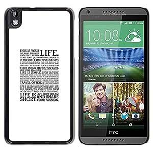 Be Good Phone Accessory // Dura Cáscara cubierta Protectora Caso Carcasa Funda de Protección para HTC DESIRE 816 // Text Quote Motivational Minimalist