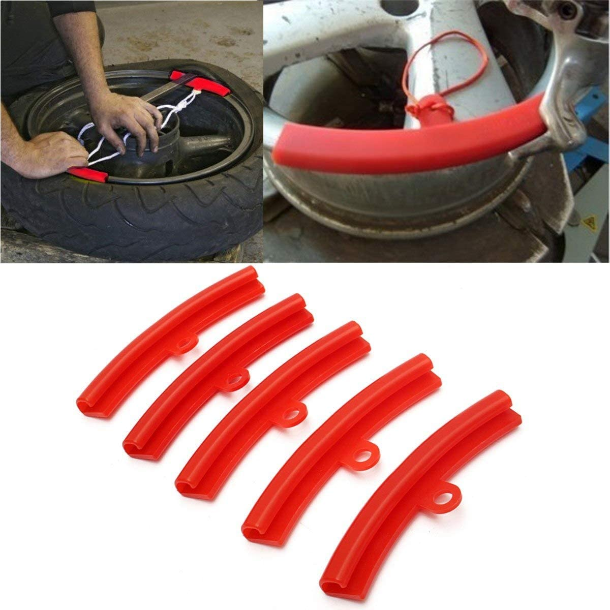 5 pcs Motorcycle Bike Tire Wheel Changer Guard Rim Protector Tyre Changing Edge