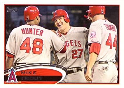 2012 Topps 446 Mike Trout Baseball Card 2nd Year Card At Amazons