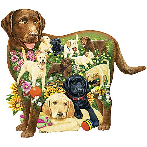 (Bits and Pieces - 750 Piece Shaped Puzzle - Lovable Labs, Labrador Dog Puppies - by Artist Jack Williams - 750 pc Jigsaw)