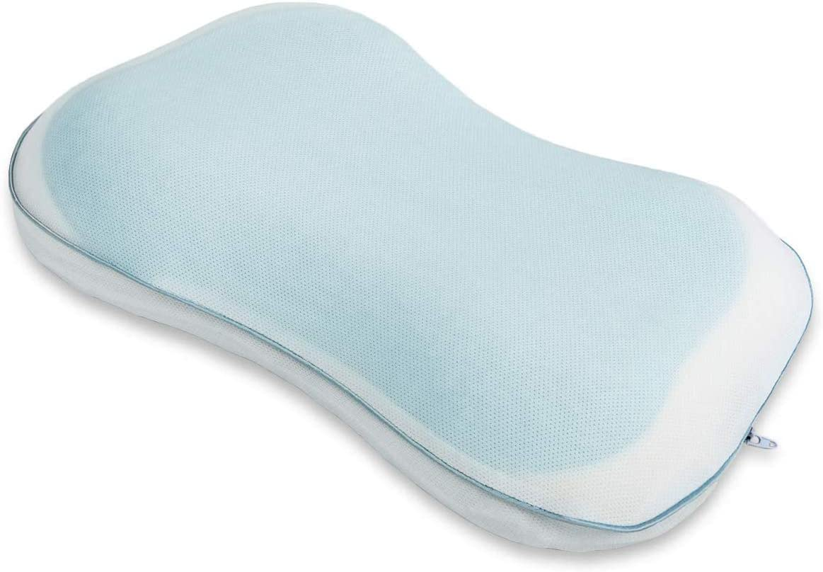 Kids Pillow Memory Foam Toddler Pillow Breathable Kids Contour Pillows for Sleeping with Pillowcase