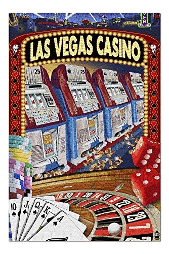 - Las Vegas, Nevada - Casino Montage (20x30 Premium 1000 Piece Jigsaw Puzzle, Made in USA!)