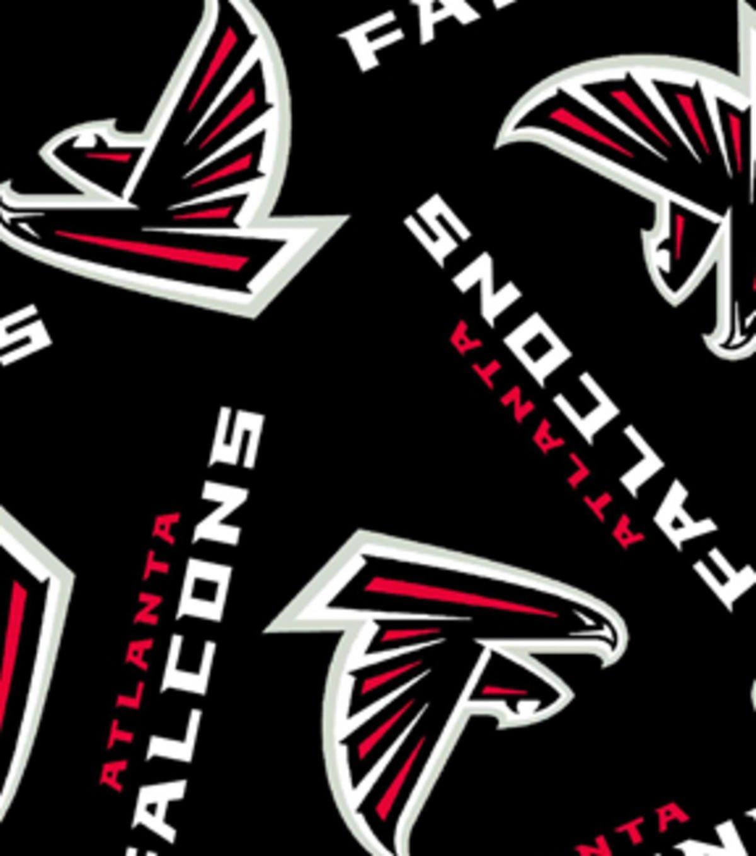 amazon com nfl atlanta falcons football print fleece fabric by