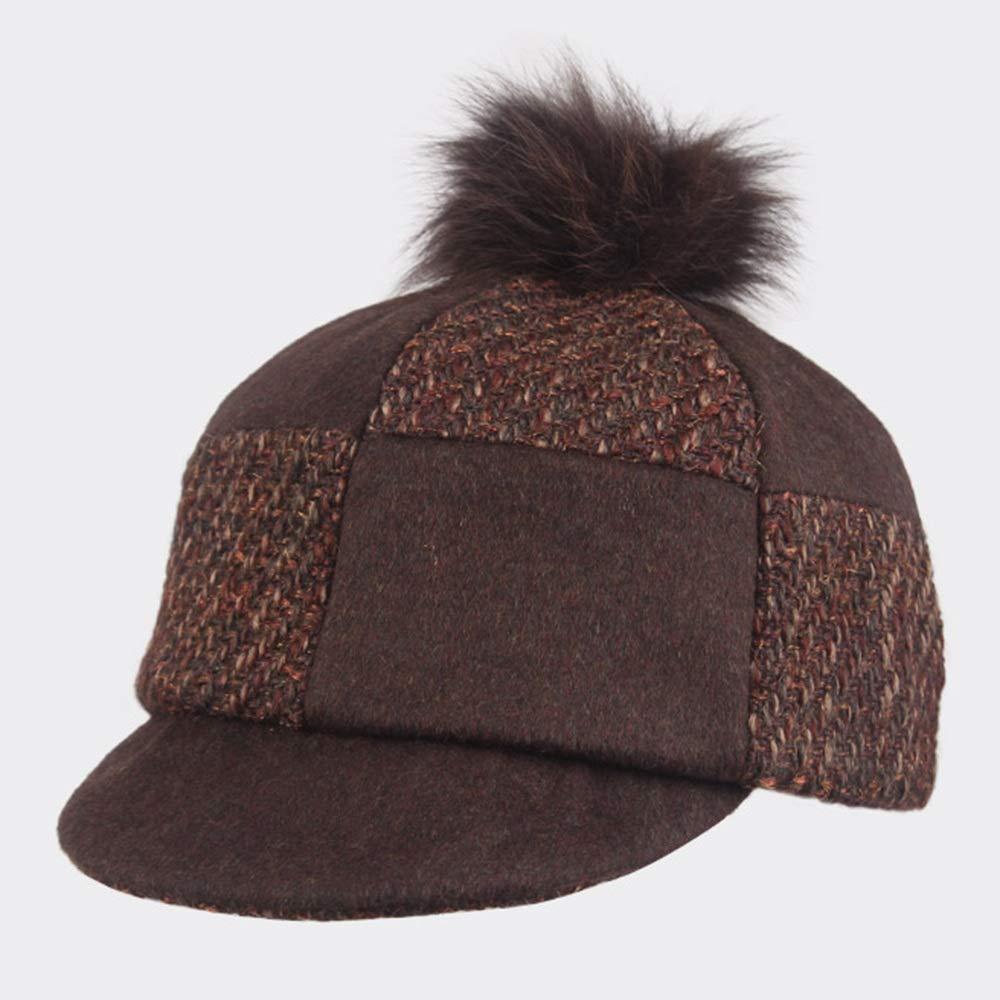 GLJF トップ帽子、秋と冬の帽子女性ベレーファッショントレンドレトロ帽子野球帽   B07JGYGL4N