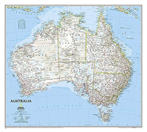 National Geographic: Australia Classic Wall Map (30.25 x 27 inches) (National Geographic Reference Map)