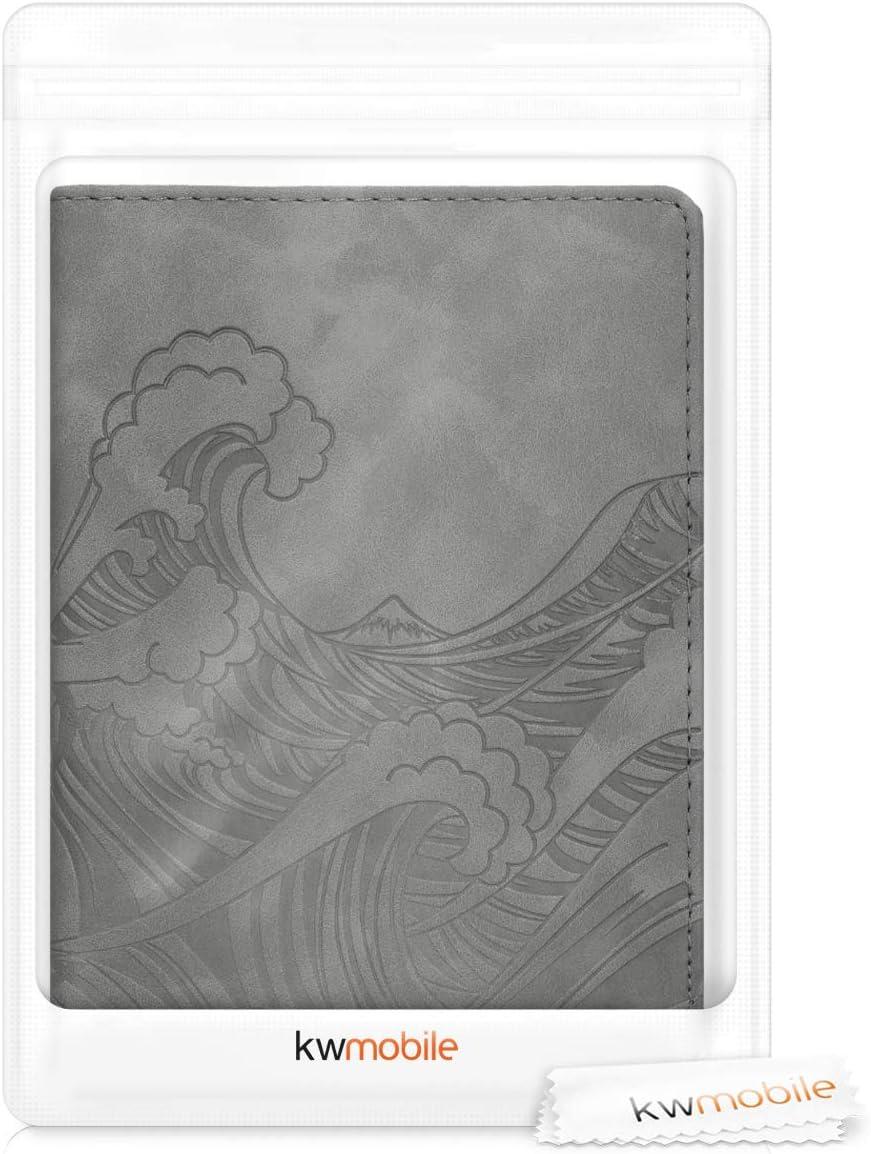 kwmobile Porte-Passeport avec Compartiments Cartes avec Emplacement Carte Bleue /Étui de Protection Simili Cuir Rose Clair-Violet-Corail Portefeuille Passeport