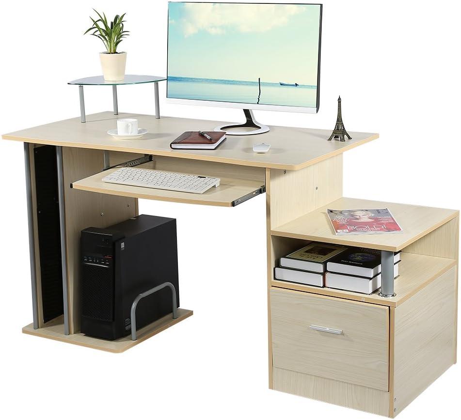 Bois de fichiers avec tiroir rangement Bureau à Domicile Ordinateur de bureau autonome à l/'unité