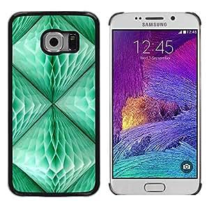 Be Good Phone Accessory // Dura Cáscara cubierta Protectora Caso Carcasa Funda de Protección para Samsung Galaxy S6 EDGE SM-G925 // Lantern Teal Green 3D Art Polygon