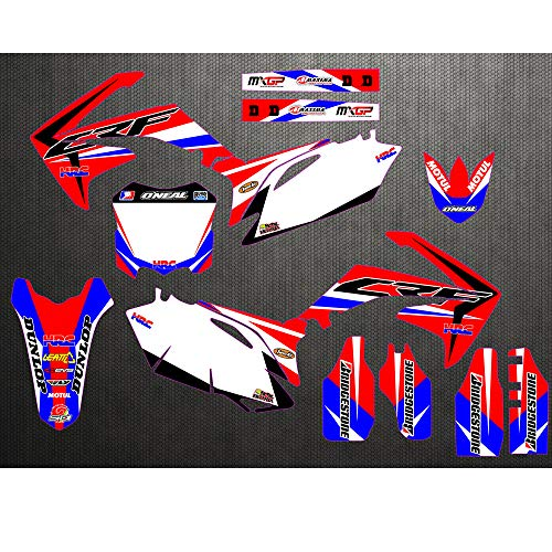 (JL'S HOME Team Decals Graphics Backgrounds Stickers For Honda CRF250R CRF250 CRF450R CRF450 Graphics Kit Full Decals Stickers 2010-2012,Custom Number Plate (Number/Letter/Pattern/Logo))