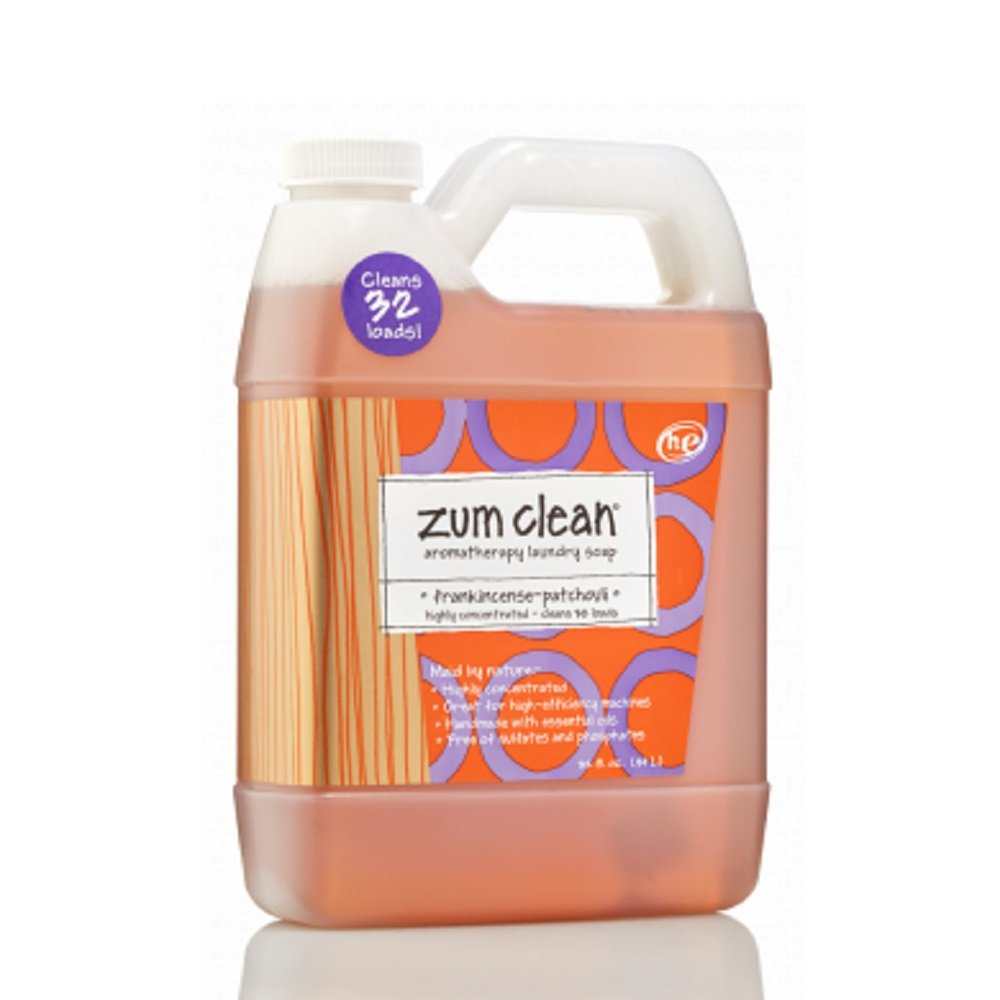 Indigo Wild Zum Clean Laundry Soap, Frankincense & Patchouli, 32 Fluid Ounce 156635
